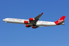 A340 G-VNAP London Heathrow 13.09.18-1 (jonf45 - 4 million views -Thank you) Tags: virgin atlantic airways airbus a340642 gvnap a340 london heathrow airport egll lhr airliner civil aircraft jet plane flight aviation