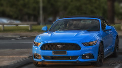 Daybreaking on a Mustang (BAN - photography) Tags: mustang blue convertible d850 burleighheads