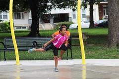 IMG_1878 (Philadelphia Parks & Recreation) Tags: carroll park dedication ribbon cutting playground play kids summer summertime laugh spray sprayground sprinkler jungle gym running laughing run playing new upgrades