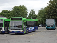 Notts&Derby 264 Derby (Guy Arab UF) Tags: nottsampderby 264 y264drc optare excel l1180 meadow road bus depot derby derbyshire wellglade buses wellgladegroup trent barton
