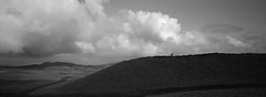 My Sons on a Hilltop, Easter Island (austin granger) Tags: easterisland rapanui clouds rain hilltop hike family distance path hill terevaka isolation pacific film xpan
