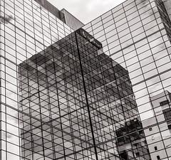 Reflection (raymorgan4) Tags: reflection glass premier inn cardiff canon 77d reflective mirrored urban art blackandwhite