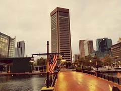 Bmore (citron_smurf) Tags: baltimore inner harbor innerharbor chesapeake downtown worldtrade urban flag americanflag aquarium