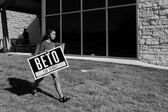 BETO (rustman) Tags: beto politics rally cedarpark yardsign elections people townhall photography bnw blackandwhite bw tones grain contrast square lx100 texaslife