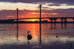 Clark Bridge (Wits End Photography) Tags: daybreak firstlight mississippiriver natural clarkbridge nature dawn outdoor rural picturesque light morning country daylight alton river view scenic sunup waterway watercourse sunrise water places landscape exterior outside