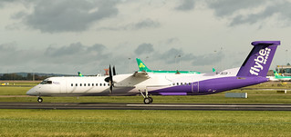 G-JECP Flybe Bombardier Q400 New Livery at Dublin Airport 16-9-18 (1 of 1)
