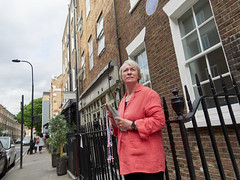 Intimidator Outside Marie Stopes Clinic. 20180918T13-19-25Z (fitzrovialitter) Tags: bloomsburyward england fitzrovia gbr geo:lat=5152288000 geo:lon=013812000 geotagged unitedkingdom peterfoster fitzrovialitter city camden westminster streets urban street environment london streetphotography documentary authenticstreet reportage photojournalism editorial captureone olympusem1markii mzuiko 1240mmpro microfourthirds mft m43 μ43 μft ultragpslogger geosetter exiftool