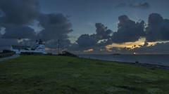 Tungenes lighthouse - VJ3_0928b (Viggo Johansen) Tags: tungeneslighthouse lighthouse rogaland sunset sea sky clouds houses