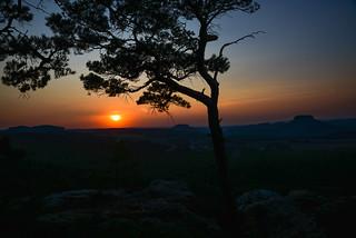 Sonnenuntergang mit Caro und Pauli