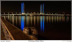 Pont Jacques Chaban-Delmas (explored) (MarcEnGalerie) Tags: nocturne voyage longexposure poselongue nightly lagaronne nocturnal fleuve bordeaux nouvelleaquitaine france fra pont