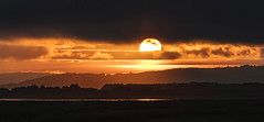 Approaching night at Penclawdd (Jo Evans1- trying to catch up - again!) Tags: penclawdd sunset looking across estuary llanelli