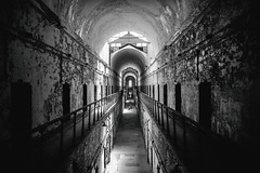 Eastern State Penitentiary (Thomas Hawk) Tags: america easternstatepenitentiary pennsylvania philadelphia philly usa unitedstates unitedstatesofamerica abandoned architecture bw jail penitentiary prison us fav10 fav25 fav50 fav100