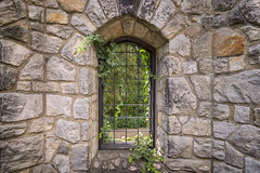 Window (DJ Wolfman) Tags: stone wall window leaves green old art stanhywet garden akronoh olympus olympusomd omd em1markii zuiko 714mmf28olympus zd