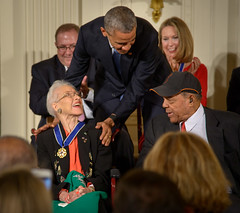 Katherine Johnson Receives Presidential Medal of Freedom (NASA on The Commons) Tags: barackobama dc eastroom katherinejohnson presidentialmedaloffreedom uspresident washington washingtondc whitehouse williemays usa