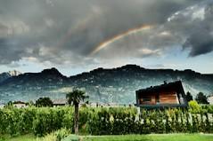 Regenbogen über Lana
