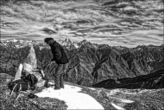 beseeching for a safe passage... (parth joshi) Tags: nature outdoors mountains trekking hiking adventuretravel himalaya naturewriting travelwriting naturephotography travelphotography outdoorphotography landscape scenery green environment ice snow uttarakhand trekkinginuttarakhand pangarchulla peak summit