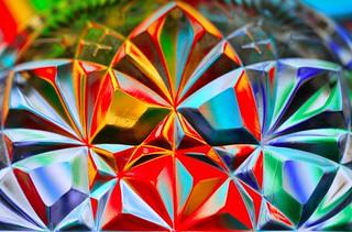 multicolored crystal flowers