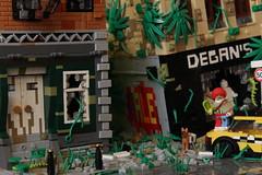 Nuke York (Jan, The Creator) Tags: lego apocalypse apocalyptic postapoc post apoc dystopian nuke york clownpoc legoclown clown zbudujmyto scene cab dog clownpocisathing