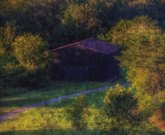 The Barn (Southern Darlin') Tags: barn louisville landscape building texture photography photo painterly park nature naturephotography