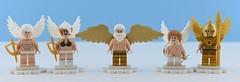 Random minifigs #4 : 😇Angels👼 (Alex THELEGOFAN) Tags: lego legography minifigures minifigure minifig minifigurine minifigs minifigurines angel paradise random white blue woman man king gold golden warrior