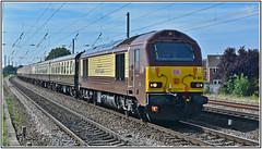 67021 Off to Wensleydale (Mark's Train pictures) Tags: dbschenker dbcargo dbcargouk class67 eastcoastmainline ecml 67021 pullman railtour charter chartertrain cass67