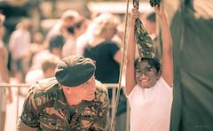 Union of Opposites. (Alex-de-Haas) Tags: oogvoornoordholland 70200mm d850 dutch holland landmacht nederland nederlands netherlands nikkor nikkor70200mm nikon nikond850 noordholland schagen army child children demonstratie demonstration evenement event girl kid kids kind kinderen landmachtdag leger lente meisje militair military opendag soldaat soldier spring nl