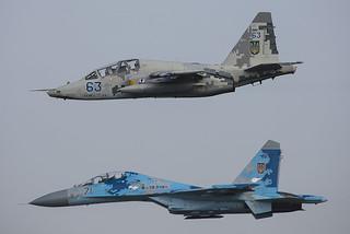 63, Sukhoi Su-25UBM Ukraine Air Force @ Radom EPRA