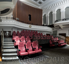 Oldham Odeon 4499-Pano (stagedoor) Tags: oldham lancashire townhall bdparchitects grade2 listed ribaaward buildingoftheyear andrewcapewell alandavies parliamentsquare greavesstreet cta yorkshirestreet cleggstreet odeon northwest greatermanchester northernpowerhouse building architecture olympus omdem1mkii copyright theatre theater teatro cinema cine kino inside seating stalls
