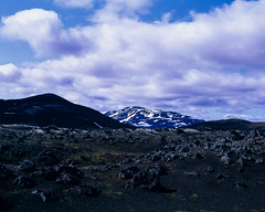 Blue Hekla (JaZ99wro) Tags: exif4film iceland f0352 analog e6 velvia50 tetenal3bathkit islandia opticfilm120 pentax67ii highlands volcano film clouds