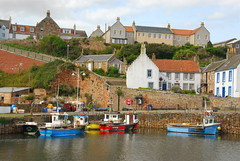 Crail Harbour (Macca6691) Tags: crailharbour crail fife fifecoastaltrail fifecoastalpath scotland harbour harbourside harbourwall fishingboats fishingboat fishingvessel inshorefishing nikon nikond200 outdoor outdoors nature fishingindustry lobsterpots boats cottages firthofforth northsea