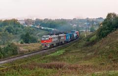 Тепловоз 2ТЭ116У-0182 (FVU-1) Tags: россия тверскаяобласть перегонзубцовбартеневоrussia tverregion zubtsovbartenevostretch train locomotive тепловоз 2тэ116у0182 2тэ116у