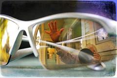 hi (1crzqbn) Tags: me selfie reflection sunglasses sunset hand hi macro bokeh dof refractions myfavoriteworkshirt yo night portrait