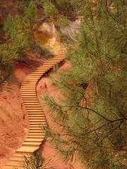 Ocher earth (degreve.sarah) Tags: ocre ocher provence red stair nature park