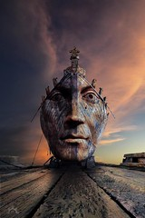 The king is dead, long live the king! (Vincent Mattina (aka FLUX)) Tags: king sunset sky clouds ship shipwreck wood dock crown color