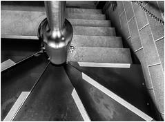 Stairway. (Alan Burkwood) Tags: stairs concrete steel harleygallery notts