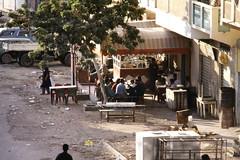 Street restaurant (motohakone) Tags: jemen yemen arabia arabien dia slide digitalisiert digitized 1992 westasien westernasia ٱلْيَمَن alyaman kodachrome paperframe