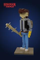 Steve Harrington - #1 (Casey M.) Tags: stranger things lego miniland mini land plus netflix tv steve nancy wheeler barb jonathan byers figure model