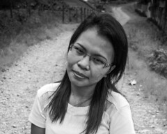 Stranger 64/100 (Stitch) Tags: stranger 100strangers portrait blackandwhite woman lady road countryside countryroad bukidnon mindanao philippines