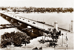 "June 1941 - Real Photo Post Card - 1930s - Nile Bridge ""Khedive Ismail"", Cairo, Egypt (real photo post card, circa 1930s) (aussiejeff) Tags: cairo egypt middleeast 1930s tombeazley vintage bridge jeffc aussiejeff postcard nile"