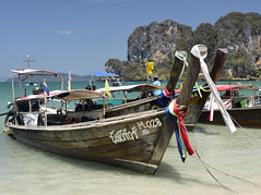 Railay Beach (Andreas Gugau) Tags: tropen strand sonne meer indischer ozean sand sandstrand railay beach aonang thailand