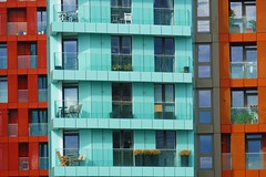 Colours and Windows (John of Witney) Tags: colours colors flats apartments windows greenwich london