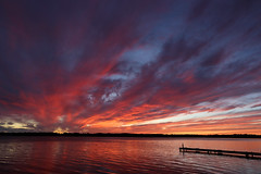 end of vacation sunset (scienceduck) Tags: 2018 september scienceduck ontario canada scugog lakescugog lake water sunset clouds dock