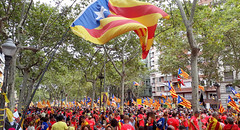 Fem la República Catalana. 2018 Barcelona . 164650 (antarc foto) Tags: one million people rally claim catalan independence freedom political prisoners september 11th 2018 diada de catalunya national day avinguda diagonal barcelona femlarepúblicacatalana
