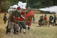 """Fire!"" (ianderry64) Tags: leicestershire park bradgate reenactment sealedknot civilwar civil war soldier musket blast gun rifle shot shoot fire"