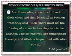 Browse Women Quran Topic on https://quranindex.info/search/women #Quran #Islam [58:3] (Quranindex.info) Tags: islam quran reciters surahs topics verses