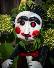Would You Like To Play a Game? (pattyg24) Tags: 2018 cedarburg cedarburgwineandharvestfestival wisconsin wouldyouliketoplayagame metalsculpture saw