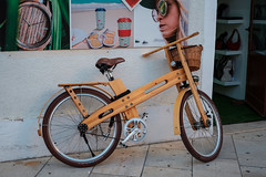 wooden bicycle (relaxedhothead) Tags: fuji xt2 xf 35 14 poreč croatia wooden bicycle