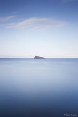 Minimal Island. (dasanes77) Tags: canoneos6d canonef24105mmf4lisusm tripod landscape cloudscape seascape clouds blue sea minimal island benidorm sunrise alicante