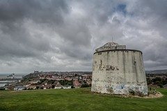 Martello Tower No.1 (James Waghorn) Tags: summer folkestone cliffs nikon d7100 topazclarity tower water thewarren tamron1024f3545diiivchld graffiti harbour kent martellotower sea historic napoleonic defence england