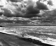 Stormy weather...... (rienschrier) Tags: river clouds wilken vlissingen schelde storm